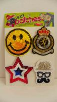 Sticker patches for backpack,shoes,notebooks with sequins