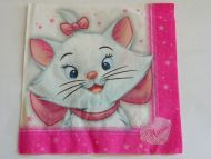 Decoupage Napkins  Kittie girl pink