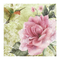 Vintage Ti-Flair Napkins 2pcs Design Flowers romantic retro Decoupage