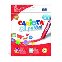 Carioca Oil Oil Pastels, Multicolour 24pcs