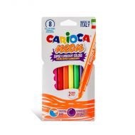 Carioca NEON felt tips super fluoresent colors 8 markers