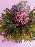 Flowers decoration like real floral home office shop deco lavender bush & leave