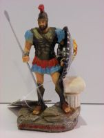 ATHENIAN HOPLITE WARRIOR 4.72'' FIGURINE WARRIOR STATUE HISTORIC COLLECT DECOR