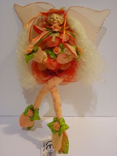 ELF KNEE VINTAGE FAIRY FIGURINE MYTHICAL FANTASY 11.8'' FLOWERS