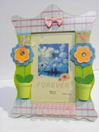 Photo picture frame wooden flowers baby girl nursery decor room