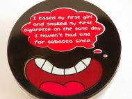 Funny Ashtray collectible metal cigarette humor gift decoration