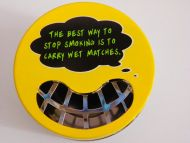 Funny ashtray humor metal stash cigarette box home office deco gift