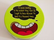 Ashtray collectible metal cigarette humor home office deco