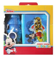 Lunch box and water canteen bottle plastic Disney Mickey Mouse kids boys girls