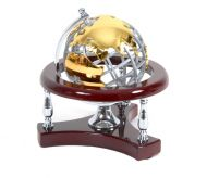 Globe Map office desk wooden nikel gold luxurious box decorative business man