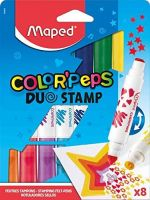 Maped Color Peps Duo Stamp Colouring Pens (8 Pack)