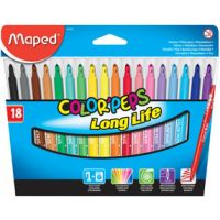 MAPED Color Peps 18pcs Washable Felt Markers fibre pens