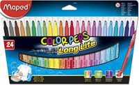 Maped Color'Peps Long Life Super Tip Ultrawashable Markers, Assorted Colors, Pack of 24