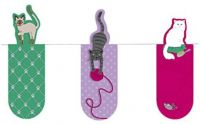 Moses. 31098 Magnetic Bookmark Cats Set of 3 Magnetic Bookmarks, Charming Illustrated