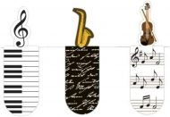 Moses. 31122 Magnetic Bookmark Music Set of 3 Magnetic Bookmarks, Charming Illustrated