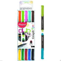 Maped DUO Graph Peps Double Ended Fineliner0.4mm Tip 5 pens 10 vivid colors