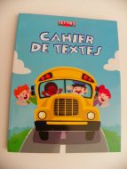 Cahier de textes agenda kids school bus 17x22 FRENCH RULING SEYES 6.7x8.6