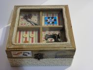 SEWING MACHINE BOX STORAGE ORGANIZER ANTIQUE STYLE SEWING TRINKET JEWELRY VINTAG