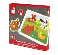 Janod Jura Toys J07080 Tactile My First Animals Puzzle educational toy boy girl